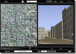 Colored Images of a map and video from an unmanned ground vehicle