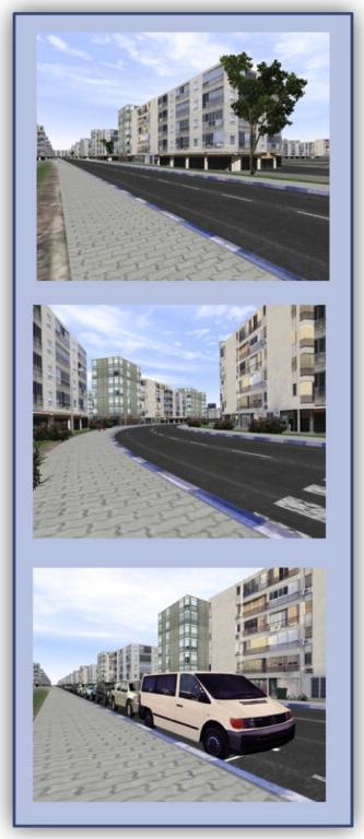 Pedestrians' crossing scenarios